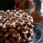 Beer for brunch? Delicious and totally acceptable if it's in these chocolate stout beer waffles with whiskey syrup! * Recipe on GoodieGodmother.com