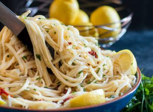 Lemon Sun-Dried Tomato Linguine