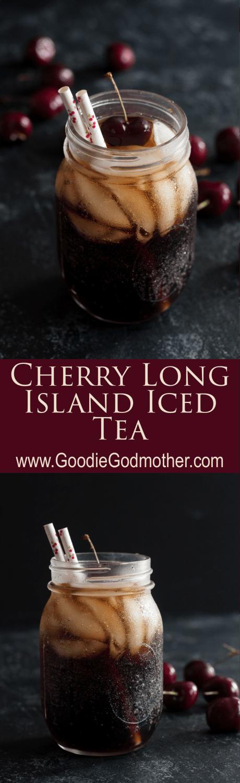 Cherry Long Island Iced Tea is a seasonally inspired twist on the classic Long Island Iced Tea recipe.* Recipe on GoodieGodmother.com