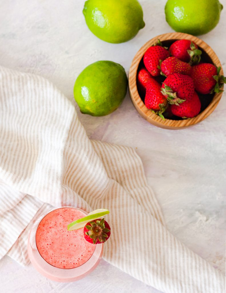 The Strawberry Capistrano is a refreshing, non-dairy, non-alcoholic drink. The natural bright pink hue from the strawberries makes this summer mocktail irresistible! * Recipe on GoodieGodmother.com