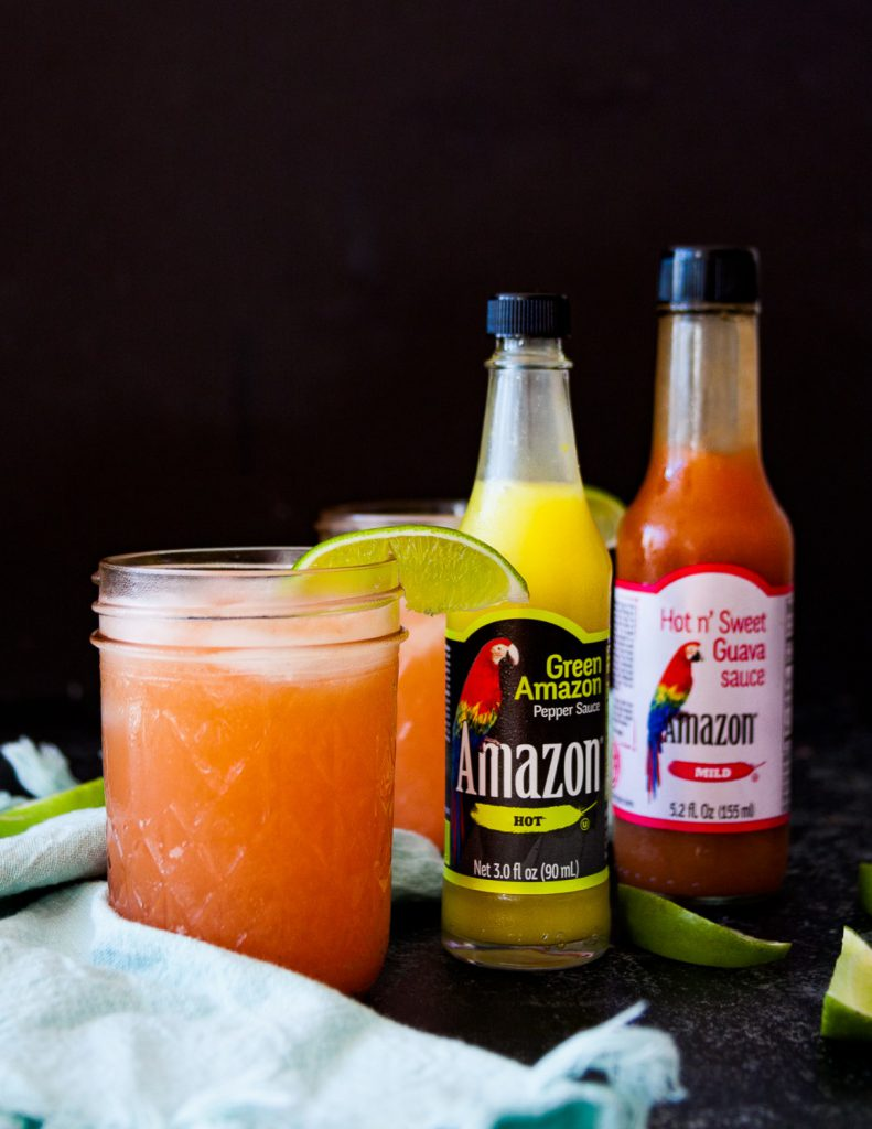 Sweet meets heat with a Caribbean twist in this easy spicy guava margarita recipe! * Recipe on GoodieGodmother.com