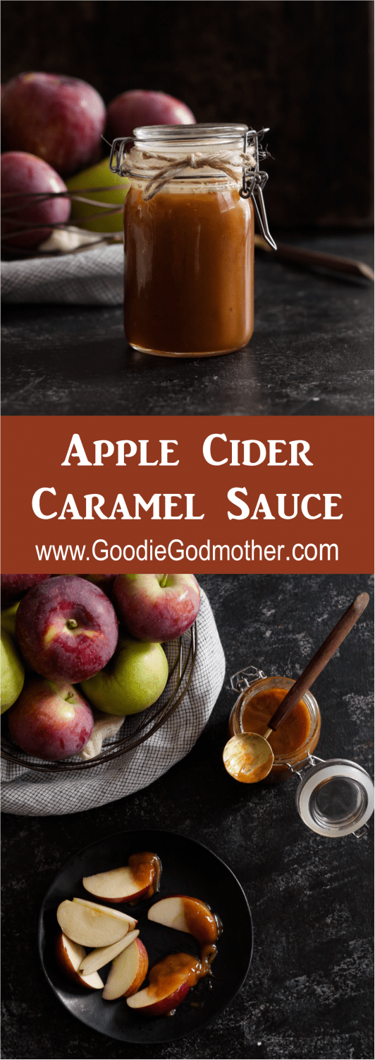 I bet you'll never guess the surprise ingredient that makes this Apple Cider Caramel Sauce a must-make fall dessert recipe! * Recipe on GoodieGodmother.com