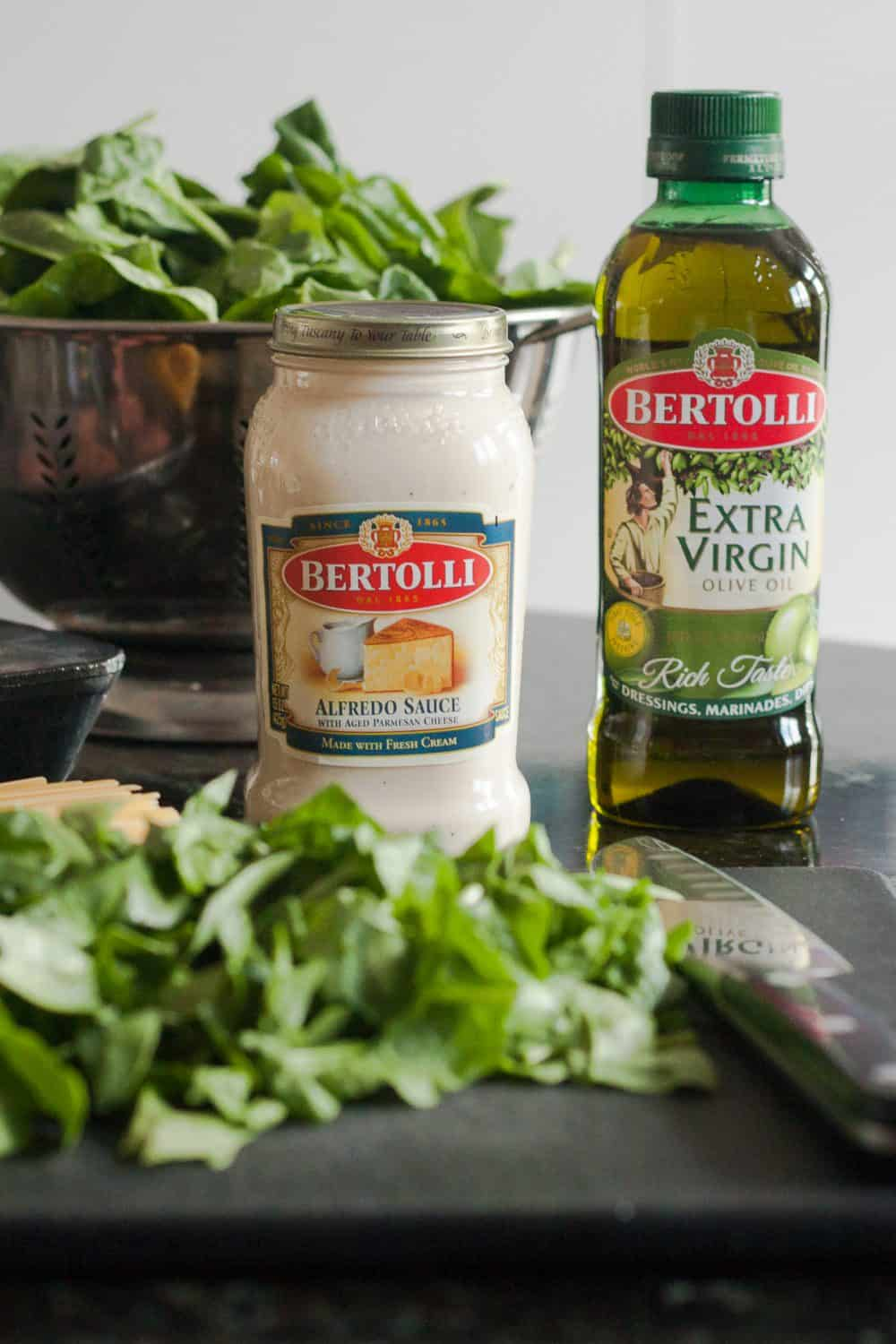 Easy Spinach Fettucine Alfredo Recipe - a semi homemade option for easy weeknight dinners * GoodieGodmother.com