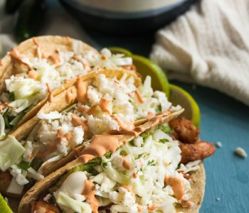 Whether you make them indoors on a grill pan or fire up the outdoor grill, these grilled shrimp tacos put you in a beach state of mind no matter the weather. * Recipe on GoodieGodmother.com