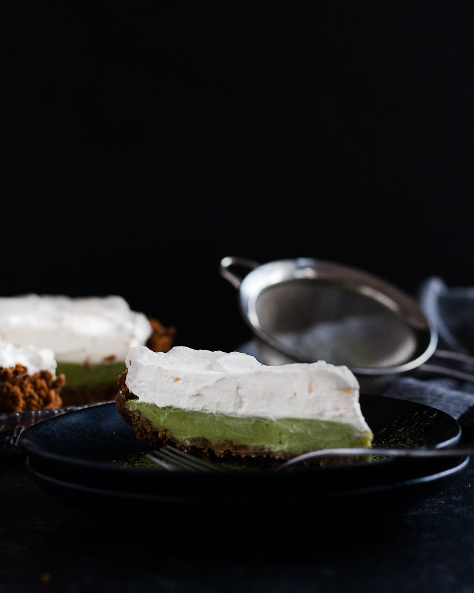 Need an easy yet elegant dessert? Make this No Bake Matcha Lemon Ginger Tart today! * Recipe on GoodieGodmother.com