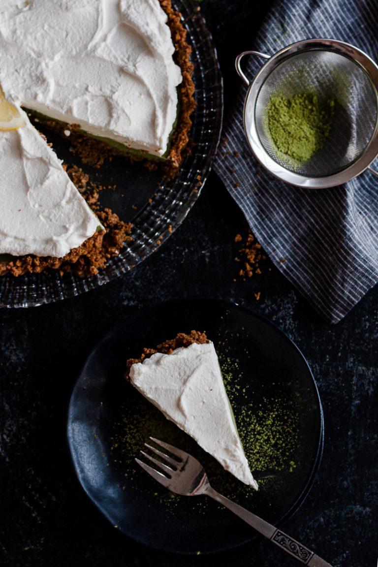 Need an easy yet elegant dessert? Make this No Bake Matcha Lemon Ginger Tart today! * Recipe on GoodieGodmother.com