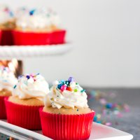 Perfect White Cupcakes from Scratch