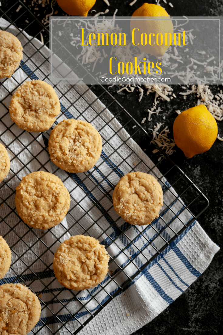 Need a recipe to use up a lot of egg yolks? These lemon coconut cookies use 6 yolks! These lightly sweetened lemon cookies are soft, rich, and a little unique with the added coconut. * Recipe on GoodieGodmother.com