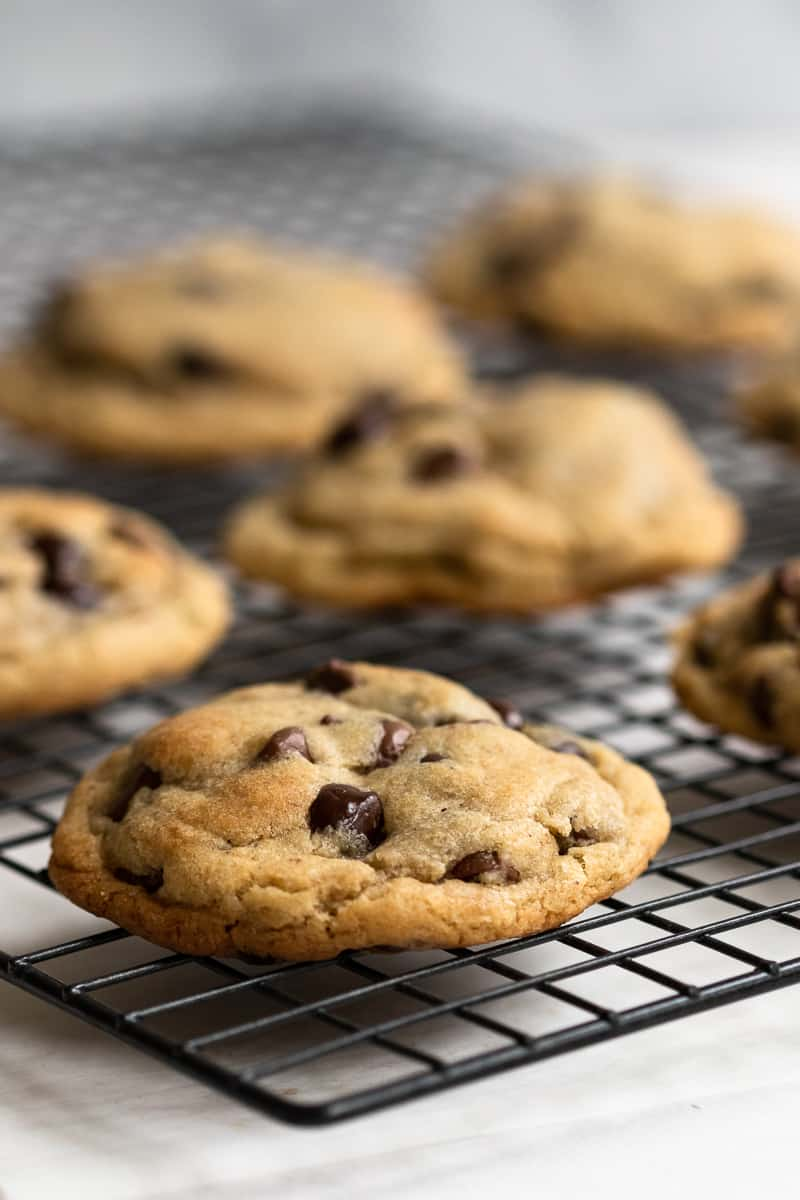 A slightly nutty flavor makes these big browned butter chocolate chip cookies a great new take on an always classic cookie! * Recipe on GoodieGodmother.com