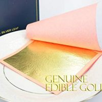 Edible Genuine Gold Leaf Sheets - 10 Sheets (Loose Leaf), 3 1/8 inches Booklet, Professional Quality