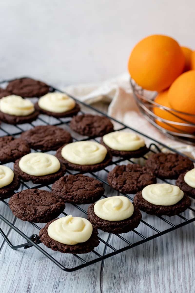 Rich chocolate orange cardamom cookie sandwiches are a grown up version of a childhood treat. * Recipe on GoodieGodmother.com