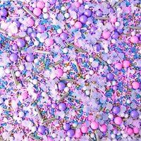 Unicorn Sprinkle Mix, Pastel Sprinkles, Rainbow Sprinkles, Pink, Purple, and Blue Sprinkles, 4oz
