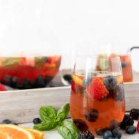 Mixed Berry Basil Rosé Sangria