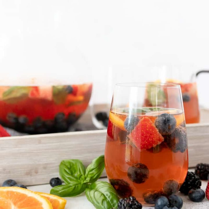 mixed berry rose sangria