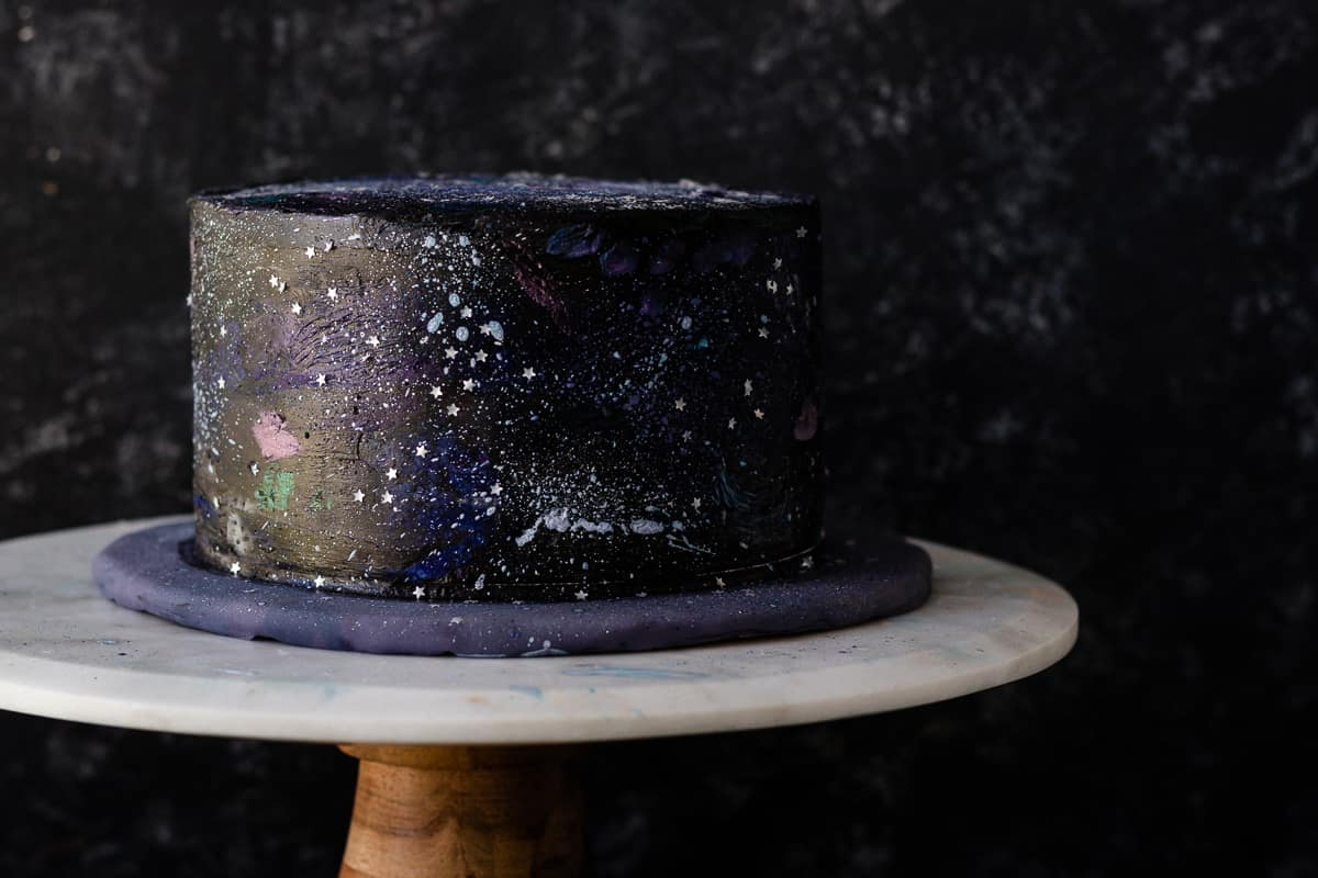 easy outer space cake tutorial