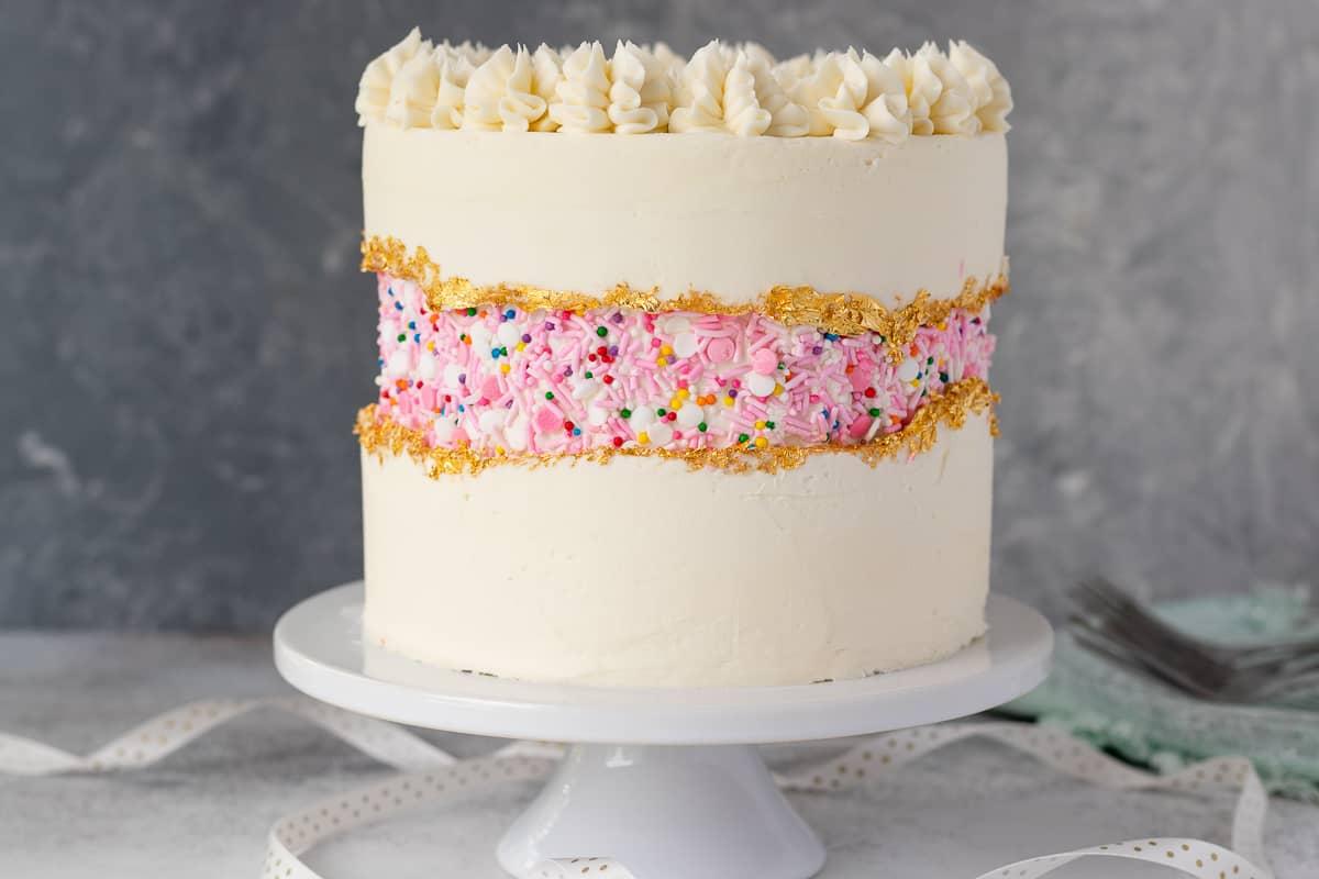 faultline cake decorating sprinkle detail