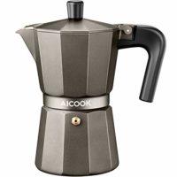 AICOOK Stovetop Espresso Machine, 6 Cups Moka Pot, Espresso and Coffee Maker