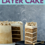 Thrill a coffee lover with this Vietnamese coffee layer cake. Inspired by the flavors of a Vietnamese coffee - espresso and condensed milk. * GoodieGodmother.com #recipeideas #dessertrecipes #layercakes #foodideas