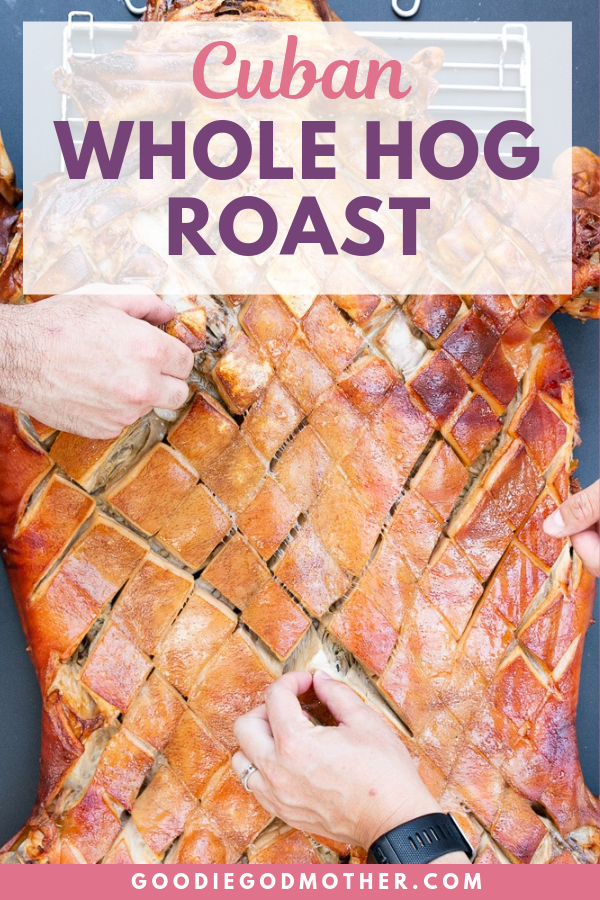 Part 3 of 3 in a series on how to build a custom caja china (pig roasting box), order a pig for roasting, and host your own Cuban pig roast. This is a Cuban-style roasted pork with mojo.