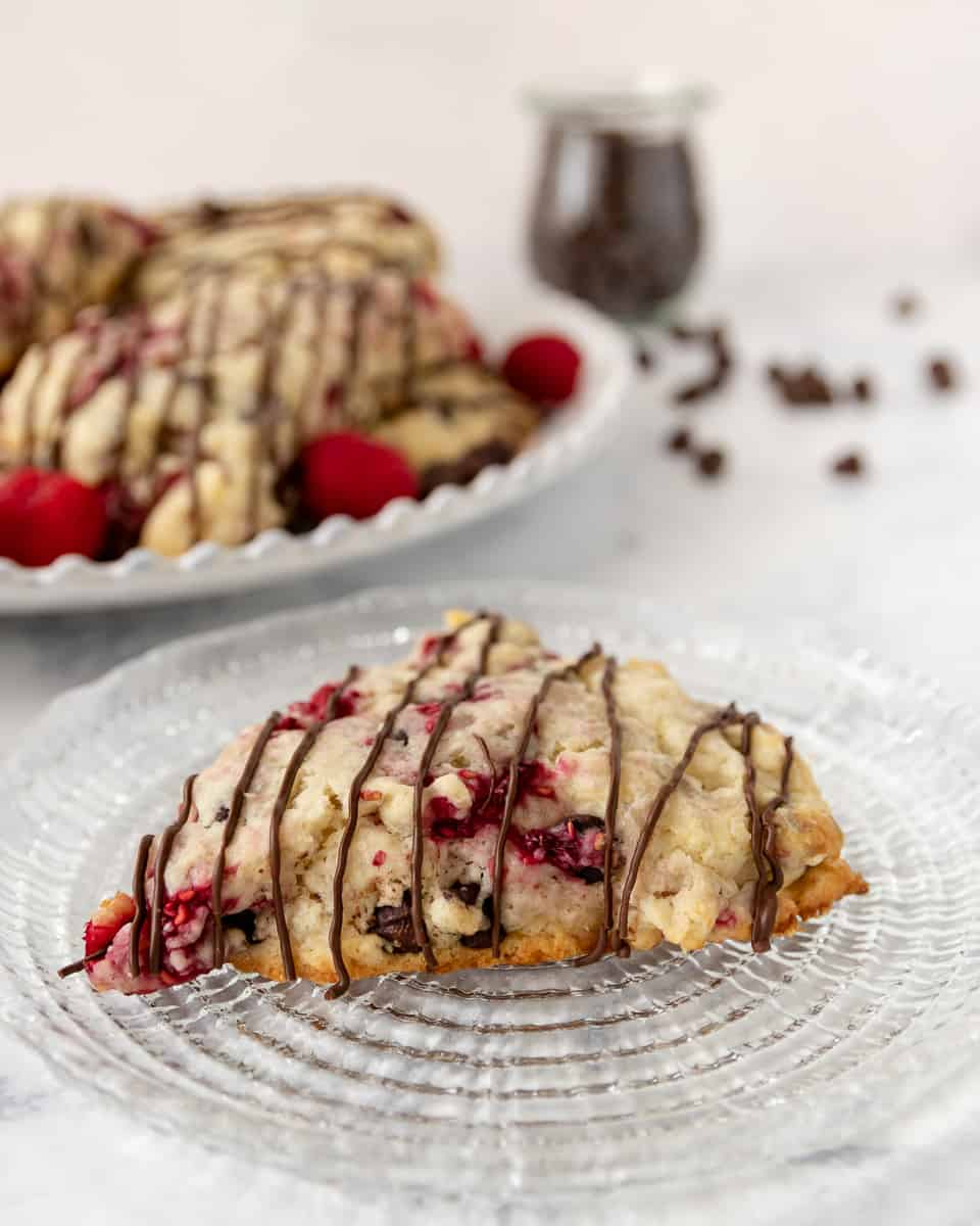 fresh raspberry scones with fresh or frozen fruit