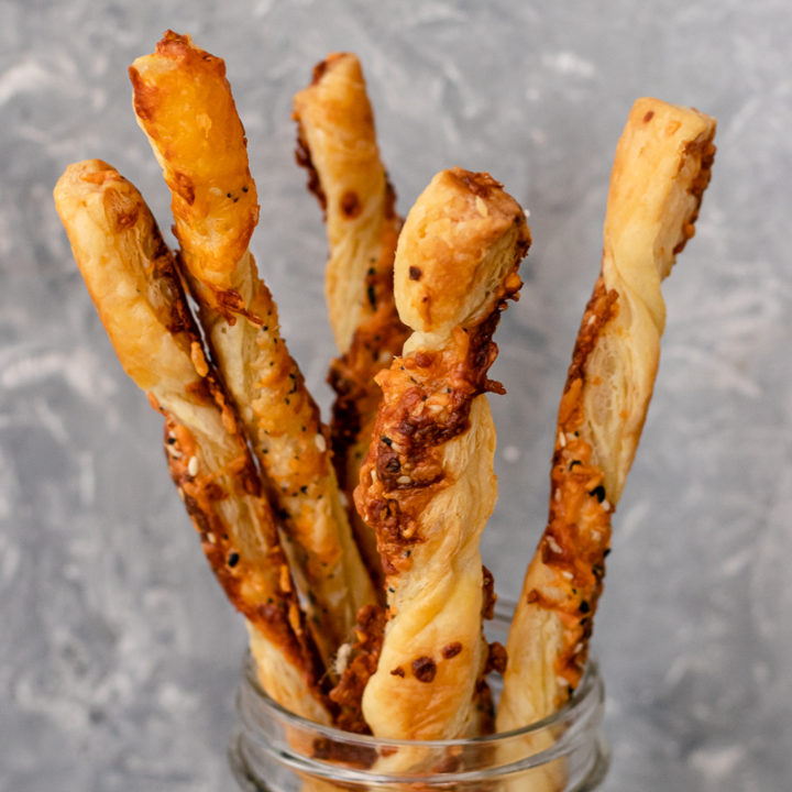 Everything Bagel Puff Pastry Cheese Straws