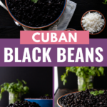 Served as a soup or over rice, Cuban black beans make a delicious, nutritious, and budget friendly addition to the menu! This easy black beans recipe includes instructions for cooking on the stove top and making black beans in the Instant Pot.Serve as either a main dish, or a filling side dish recipe. #cubanfood #dinnerideas #sidedish #maindish #instantpot #easyrecipes #beans #comfortfood #howtomake