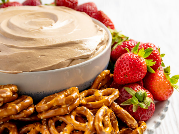 Easy Nutella Cheesecake Fruit Dip