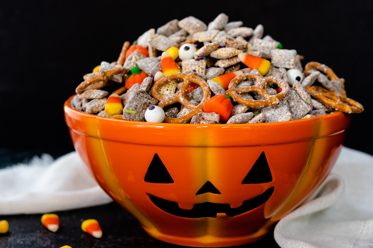 Halloween Puppy Chow Recipe Monster Munch Goodie Godmother