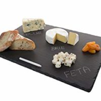 "4 Sizes to Choose:  Large Stone Age Slate cheese boards (12""x16"" Serving Platter) with Soap Stone Chalk"