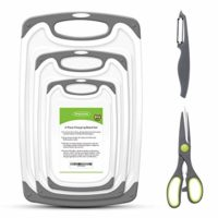 PHILWIN Cutting Boards for Kitchen, Plastic Chopping Board Set of 5, Dishwasher Safe