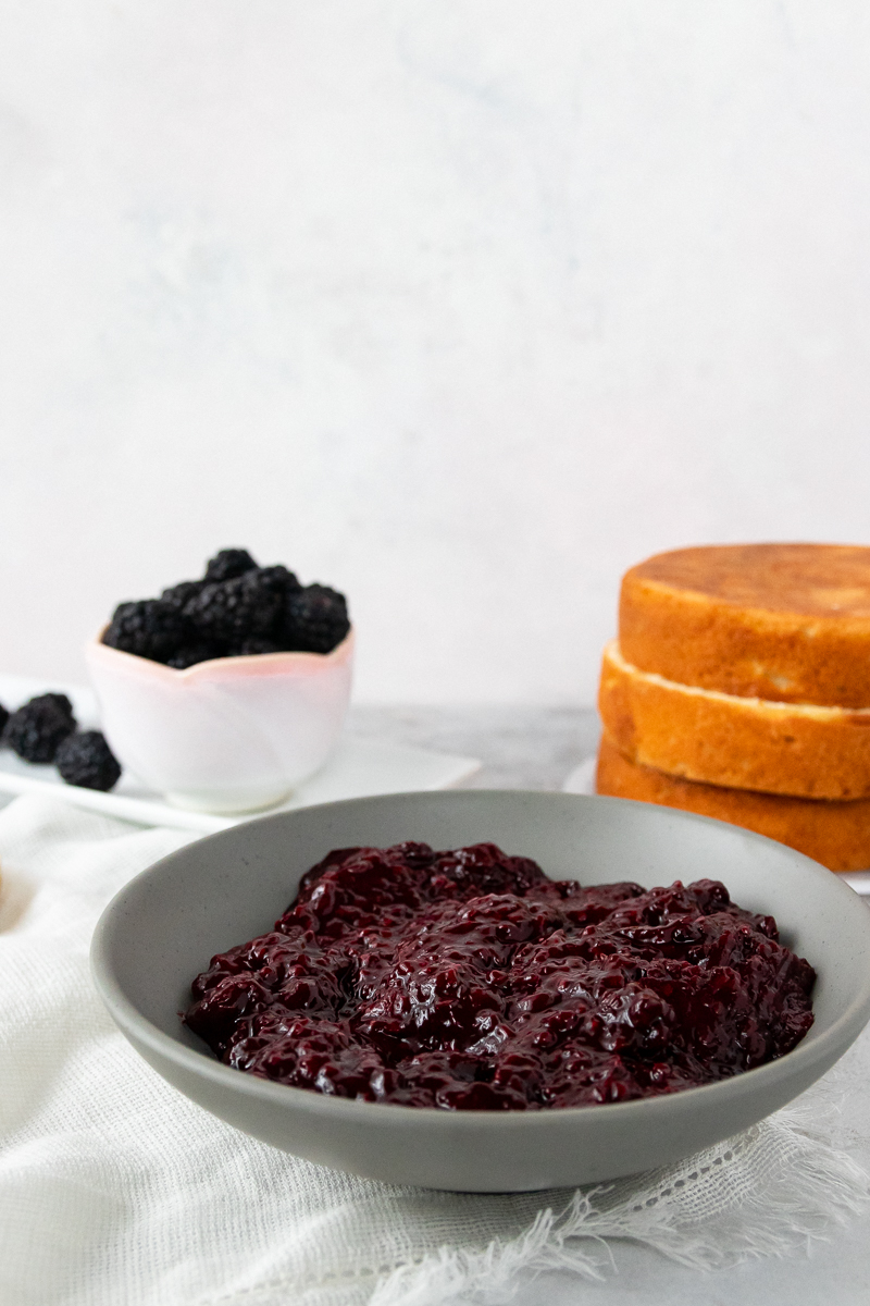 blackberry cake filling can be used in cupcakes or layer cakes