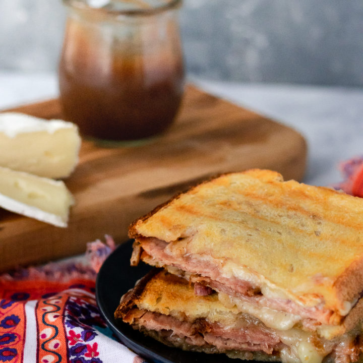 a gourmet hot ham and cheese sandwich is a great way to use up holiday leftovers