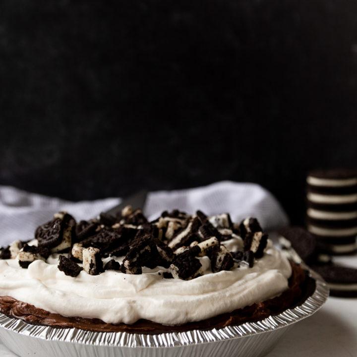 No Bake Oreo Chocolate Pudding Pie