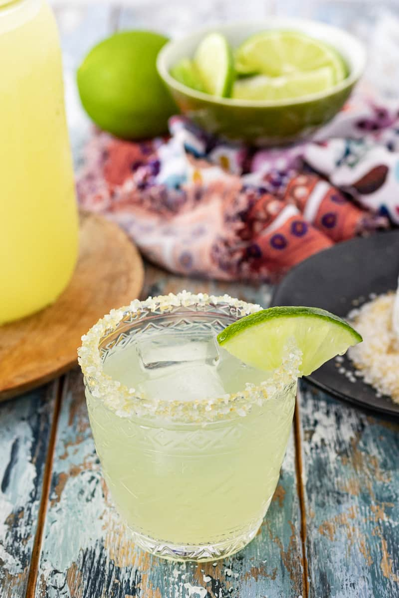 make your own margarita mix for the best classic margaritas!
