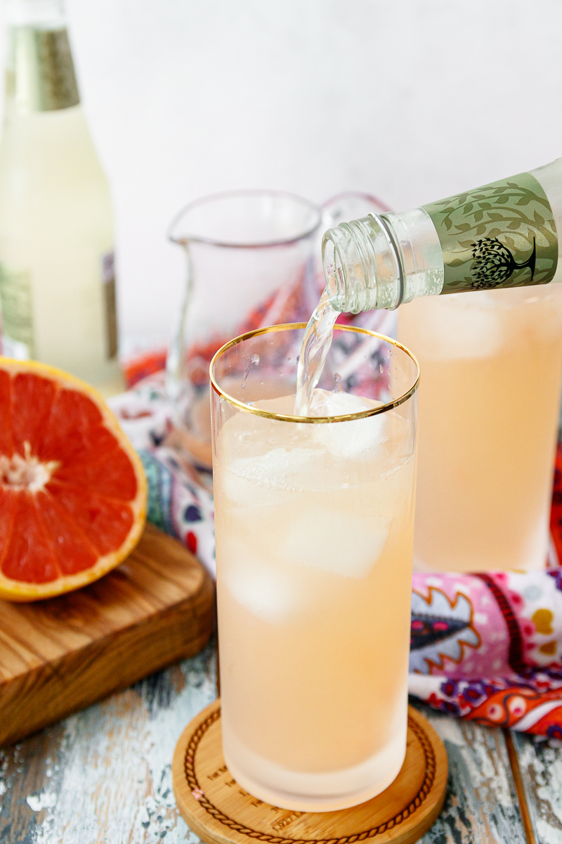 finish mixing your drink using ginger beer
