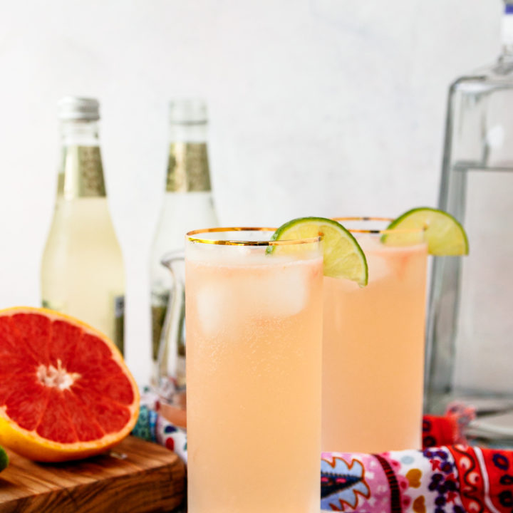 Ginger Paloma Cocktail recipe - perfect for an easy Cinco de Mayo happy hour