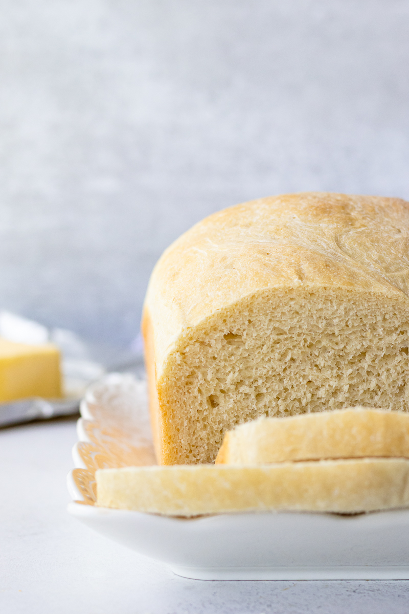 close up of the sandwich bread to show crumb
