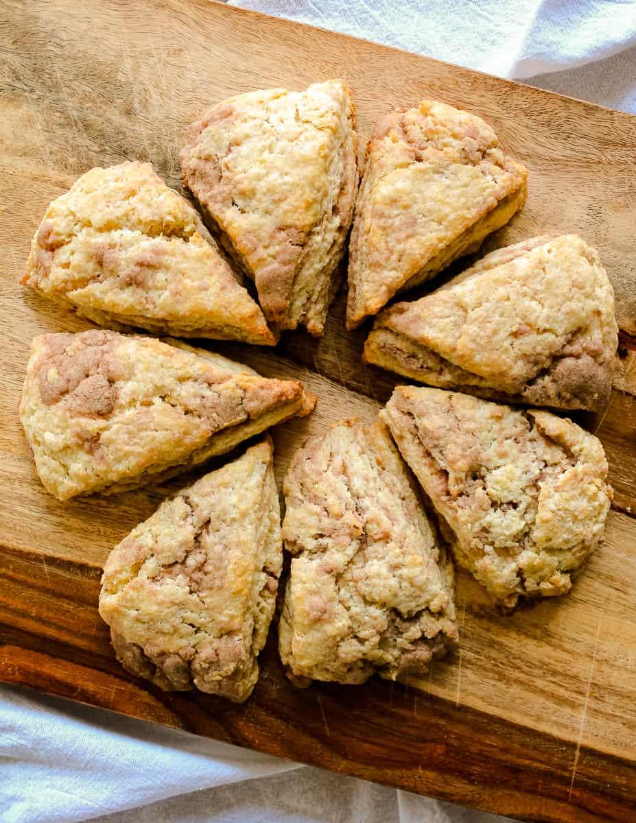 Delicious cinnamon swirl scones make a great breakfast or tea time treat!