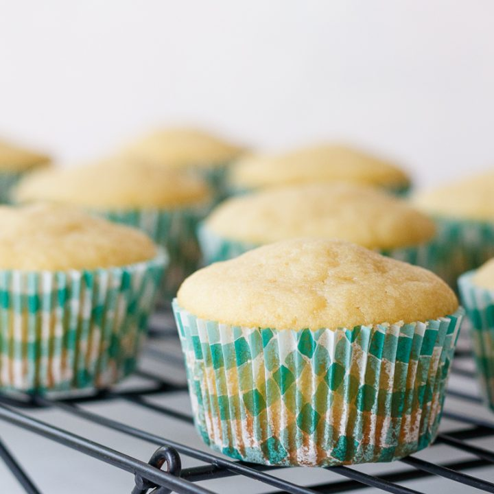 Perfect Vanilla Cupcakes from Scratch