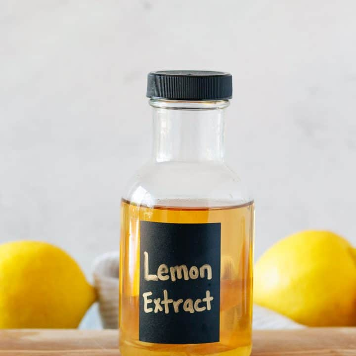 recipe for homemade lemon extract that works with any kind of citrus