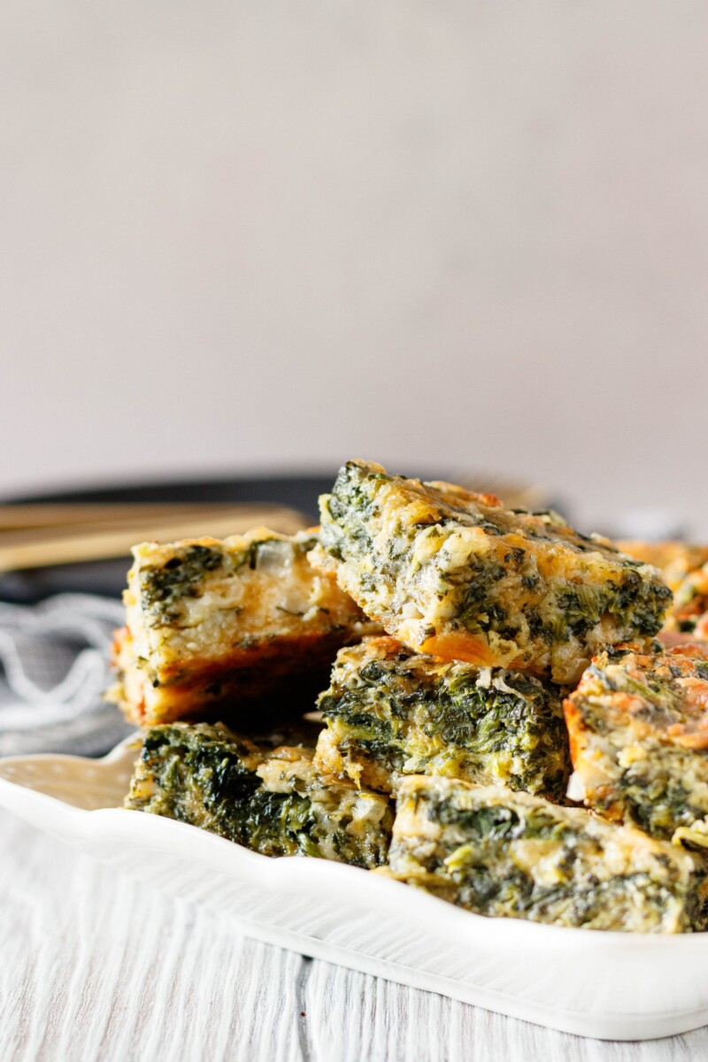close up to show the texture and all the spinach and cheese!