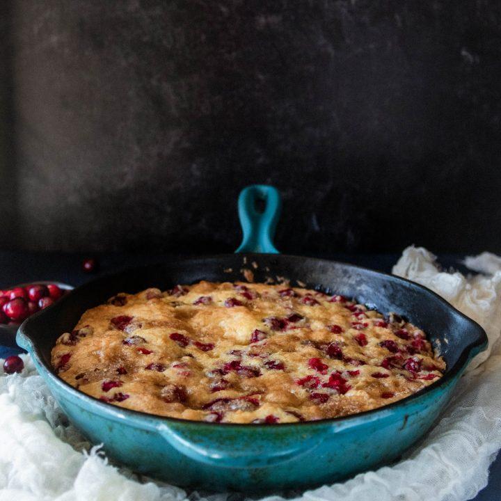 Fresh Cranberry Skillet Cake