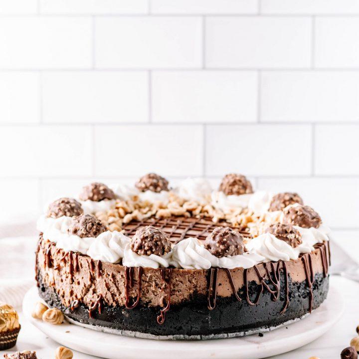 Chocolate Hazelnut Cheesecake {Nutella Cheesecake Recipe}