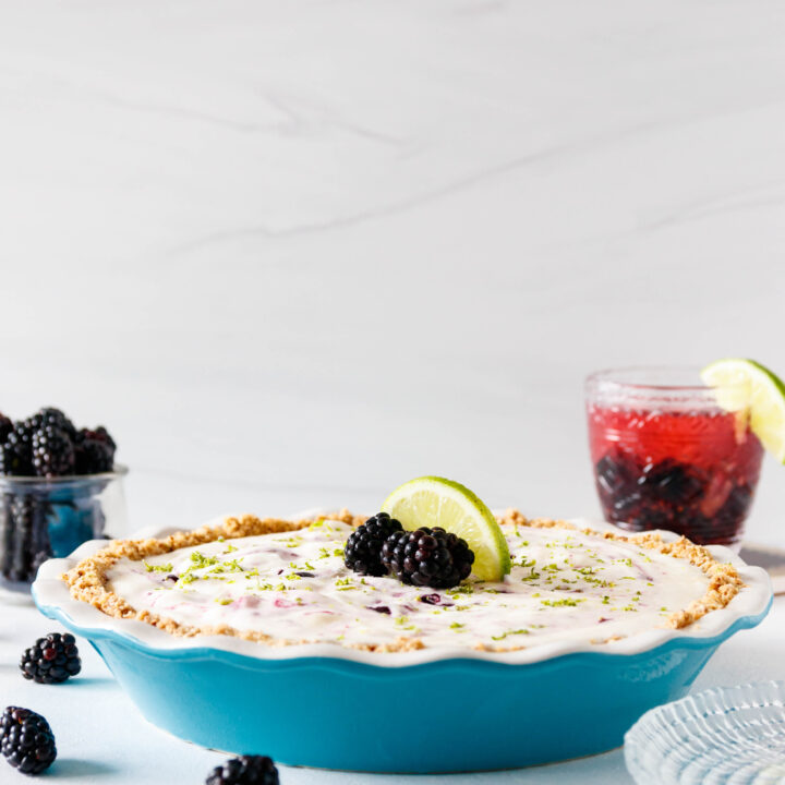 Frozen Blackberry Margarita Pie