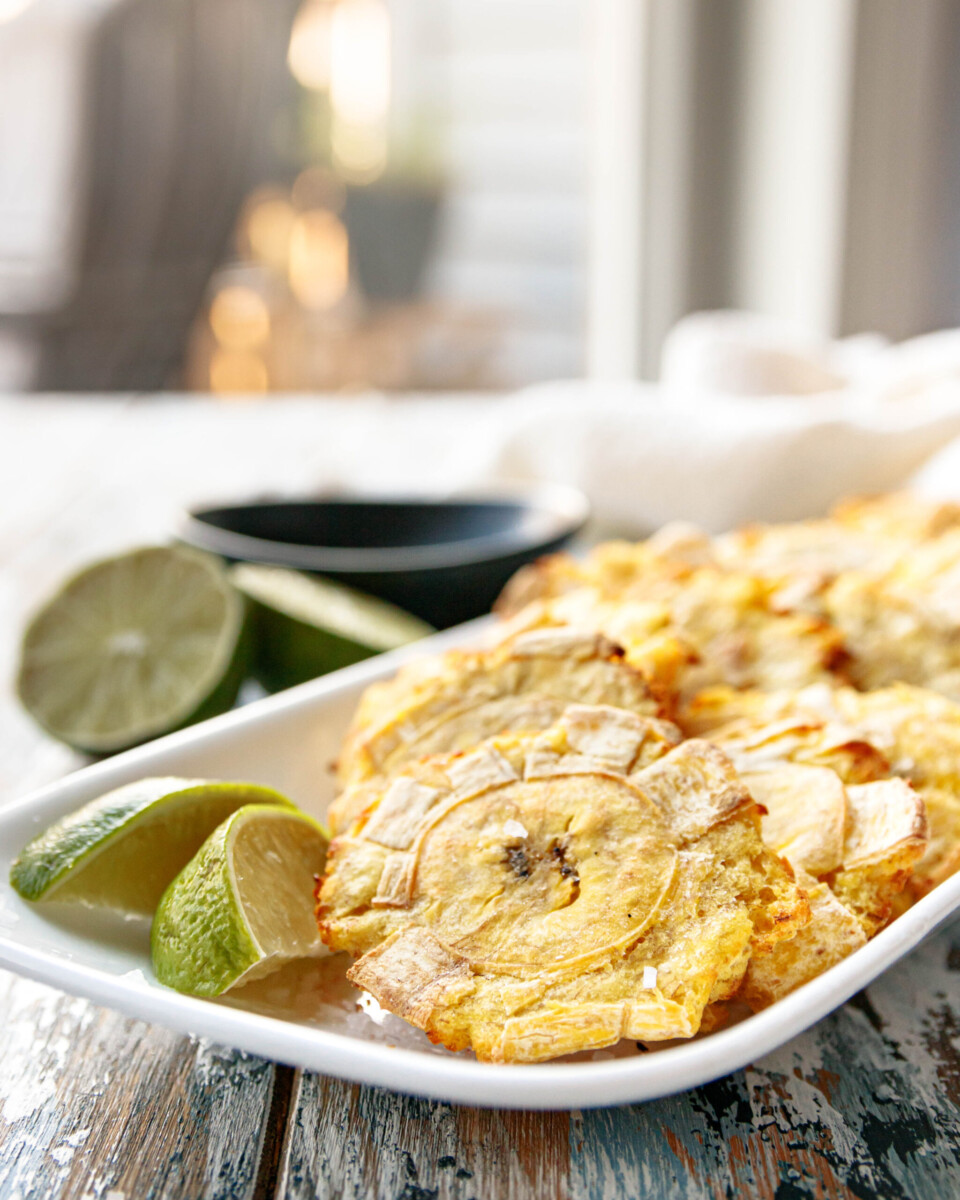 close up of the tostones